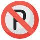طرح لایه باز پوستر عدم توقف جلوی پارکینگ
